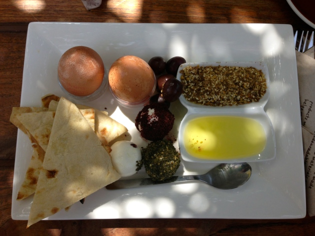 Arabic breakfast at The Lime Tree Cafe