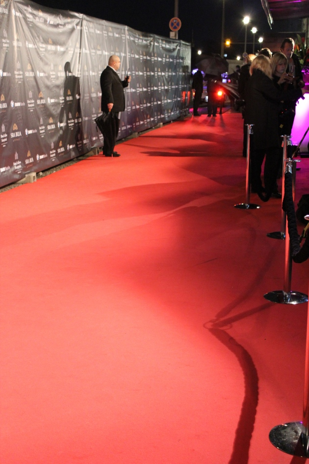 The red carpet at Tim Raue opening