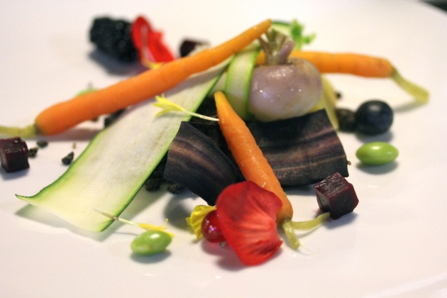 A picture perfect dish of vegetables